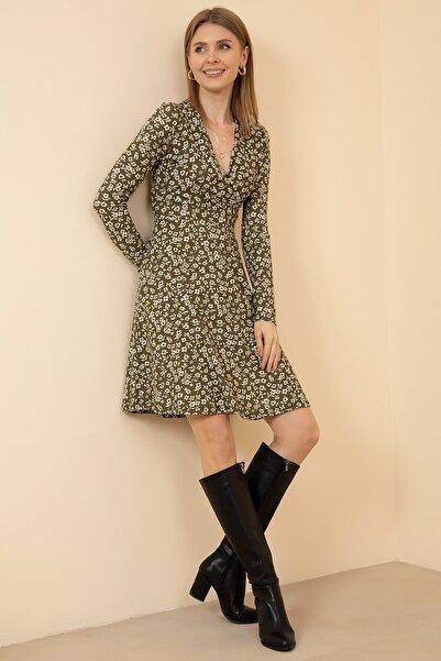 D-Paris Kruvaze Yaka Elbise