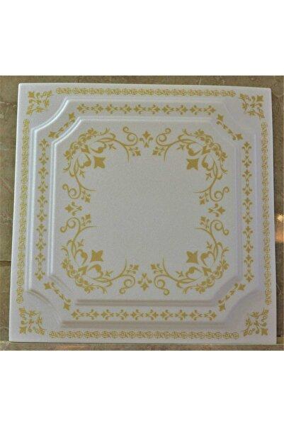 Delle Dekor Altın Kaplama Strotex Banyo Tavan Kaplama Köpüğü 50x50 ( 8 Adet 2m2)
