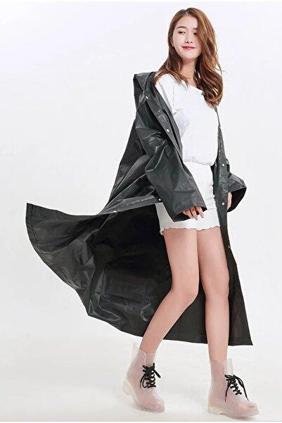 Arsimo Unisex  Yağmurluk Kapüşonlu Siyah