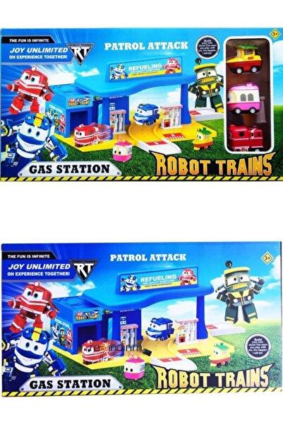 Realx Robot Trenler Oyuncak Seti Benzin Istasyonu Seti 3 Figürlü 16 Parça Alf Duck Saly