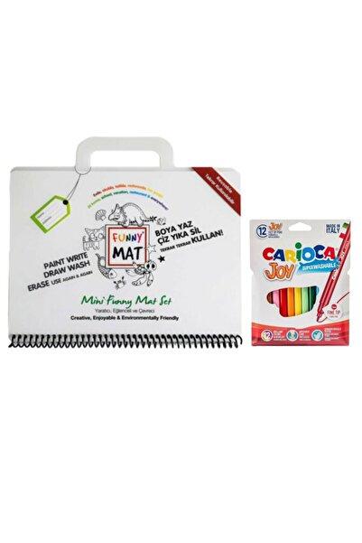 CARIOCA Barker Akademi Çocuk Funny Mat Mini Set - Carioca Joy Keçeli Boya 12'li