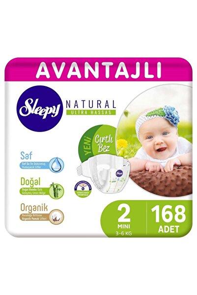 Sleepy Natural Avantajlı Bebek Bezi 2 Numara Mini 168 Adet