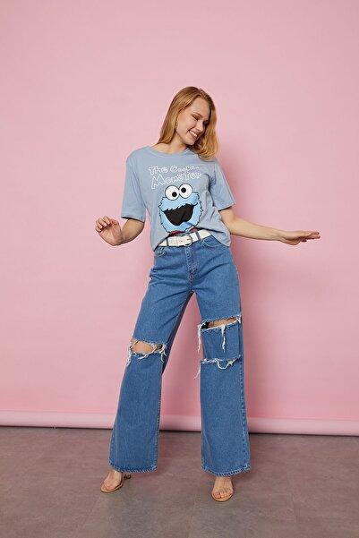 Arma Life Cookie Monster Baskılı T-shirt