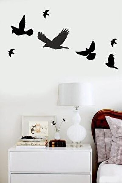 Ahşap Dekoratif Kuş 7 Adet Set