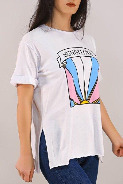Lukas Baskılı T-Shirt Beyaz - 5084.