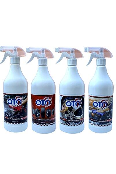OTO55 Seramik Etkili Cila + Lastik Parlatıcı + Jant Temizleme + Motor Temizleme