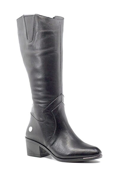 Mammamia D19kc-2020 Hakiki Deri Siyah Kadın Çizme