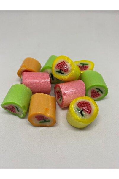 YIBA Çilek Desenli Meyveli Akide Şekeri 400 Gr