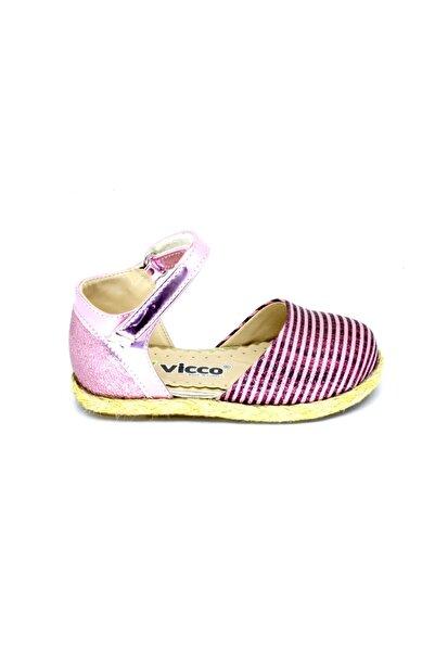 Vicco Kız Bebek Pembe Cırtlı Babet Ayakkabı 963519