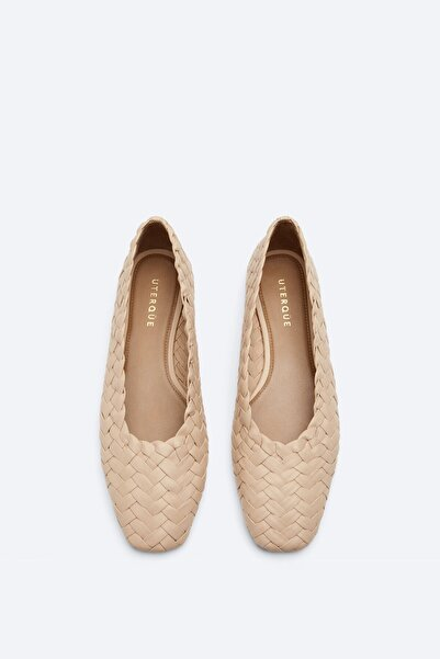 Uterqüe Örgü Babet Ayakkabı
