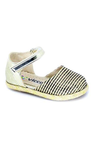Vicco Kız Çocuk Altın  963519  Cırtlı Babet Ayakkabı