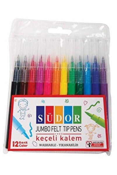 Jumbo Keçeli Kalem 12 Renk Kk02
