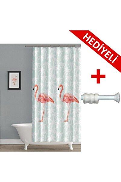 PRADO Flamingo Banyo Perdesi + Askı Hediyeli 123-200 cm