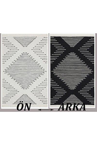 MORCILEK Eko Arya %100 Geri Dönüşümlü Pamuktan Çift Taraflı Yıkanabilir Modern Dekoratif Kilim