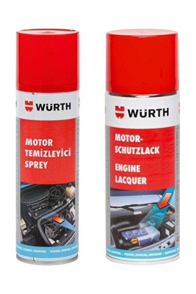 Würth Motor Temizleyici Sprey 500 Ml + Koruma Cilası 400 Ml
