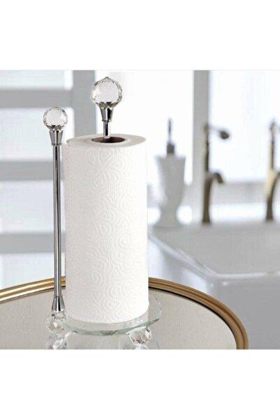 AROW Dekoratif Kristal Taşlı Cam Kağıt Havluluk Gümüş