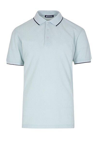 Hatemoğlu Açık Mavi Desenli Polo Yaka Tişört