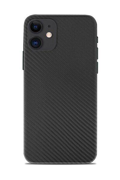 Renkli Garaj Iphone 11 Uyumlu Black Carbon Telefon Kaplaması