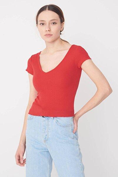 Addax V Yaka Basic T-shirt P0980 - T13