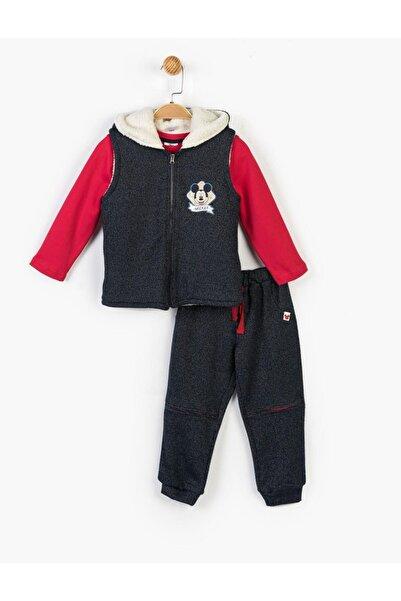 Mickey Mouse Çocuk Lacivert Disney Mickey 3lü Takım 14727