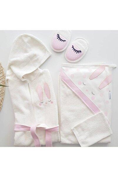 Miniworld Yeni Koleksiyon Kız Bebek Havlu Bornoz Seti 10014555 - Bebek Doğum Hediyesi