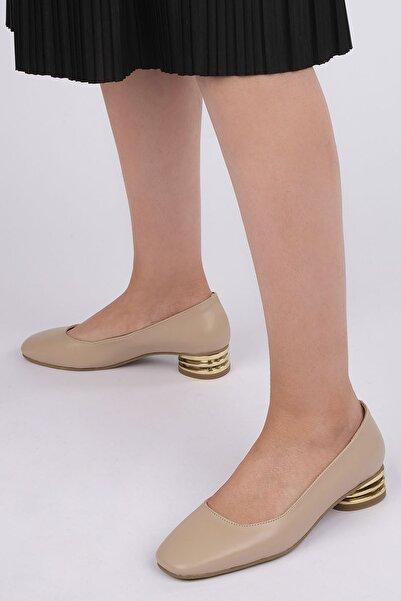 Marjin Vensil Kadın Klasik Topuklu Ayakkabıbej