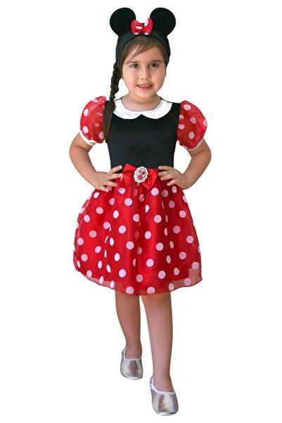 MINNIE Kız Çocuk Kırmızı Yeni 7-9 Yaş Mouse Kostüm
