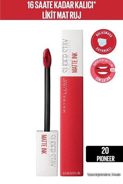 Maybelline New York Super Stay Matte Ink Likit Mat Ruj - 20 Pioneer - Kırmızı