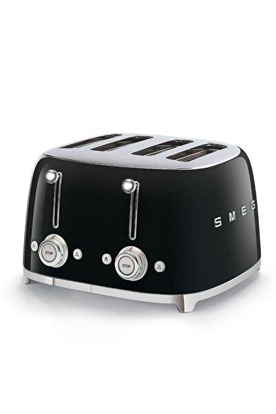 SMEG Tsf03bleu Retro Siyah 4x4 Slot Ekmek Kızartma Makinesi