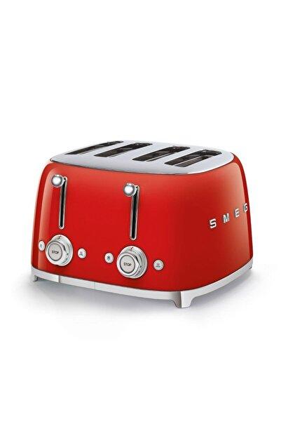 SMEG Tsf03rdeu Retro Kırmızı 4x4 Slot Ekmek Kızartma Makinesi