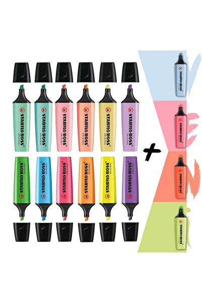 Stabilo 4 Yeni Pastel + 6 Pastel + 6 Canlı Renk 16'lı Set