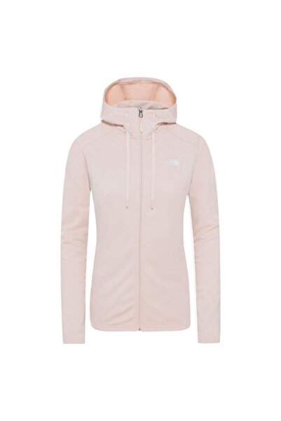THE NORTH FACE Kadın Pembe W Tech Mezzaluna Hoodie Kapüşonlu Sweatshirt