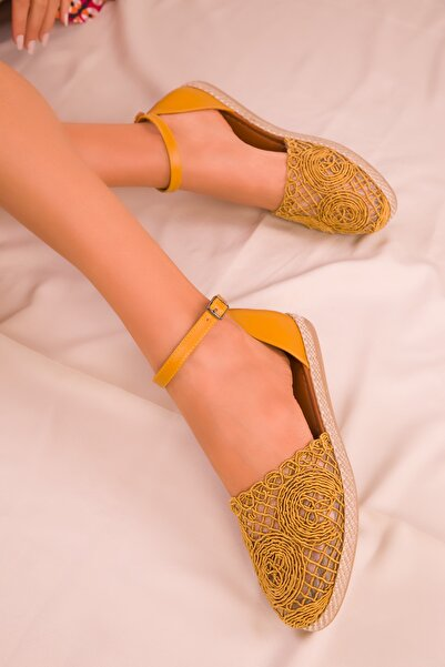 SOHO Hardal Sarı Kadın Sandalet 15046