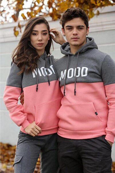 Kaftan Giyim Sevgili Kombini Mood Baskılı Çift Renk Sweatshirt Satış Fiyatı 1 Adet Fiyatıdır