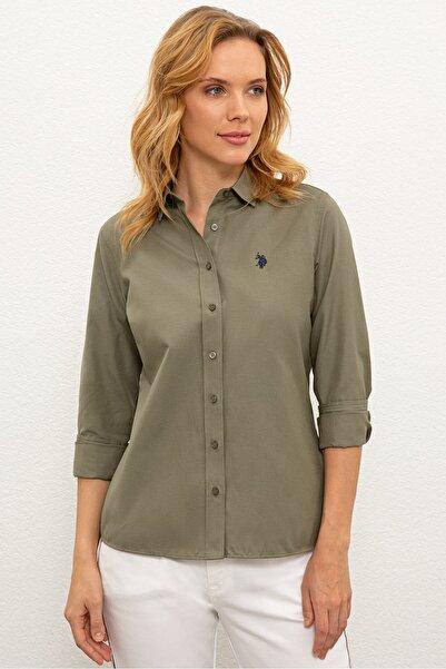U.S. Polo Assn. Yesıl Kadın Dokuma Gömlek G082Gl004.000.1261820
