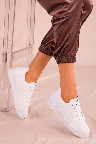 SOHO Beyaz Kadın Sneaker 14739