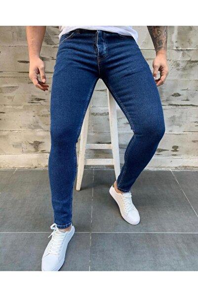 Alux Denim Erkek Mavi Skinny Fit Jean Kot Pantolon