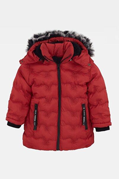 Le Ville Kız Çocuk Mont Yakası Tüylü Çıkarılabilir Kapüşonlu Şişme 25765030