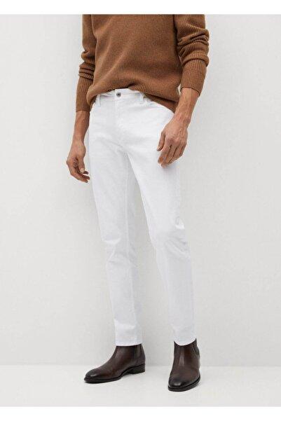 MANGO Man Erkek Beyaz Dar Kesim Beyaz Jan Jeans