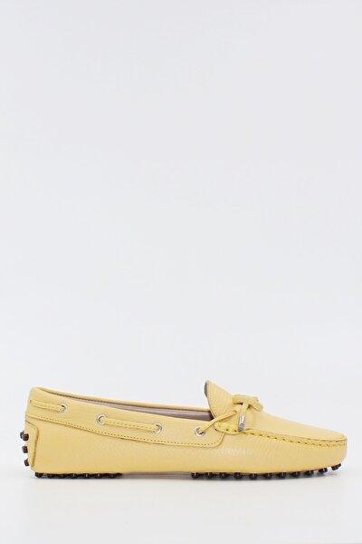 West To West Kadın Loafer Ayakkabı Hakiki Deri Limon Ç. Deri