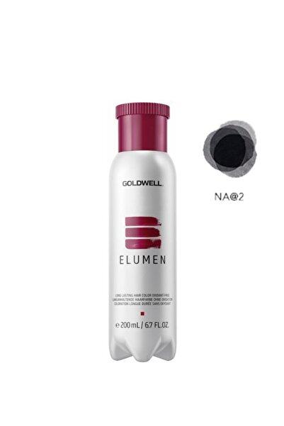 GOLDWELL Elumen Saç Boyası Na@2 Doğal Küllü Siyah 200 ml