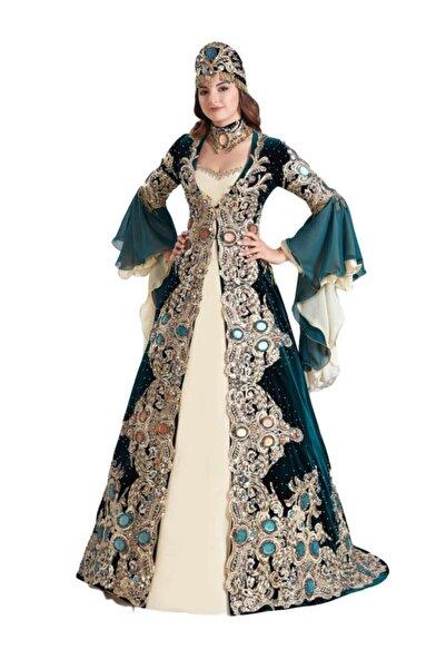 Ceyyiz Büyük Taşlı Bindallı Kına Elbisesi 5 Parça Zerafet