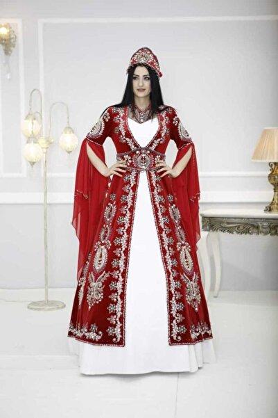 Ceyyiz Büyük Taşlı Nakışlı Bindallı Kına Elbisesi Bahar