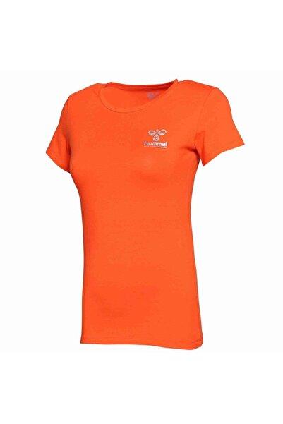 HUMMEL Kadın Turuncu Denı Kısa Kollu Tişört