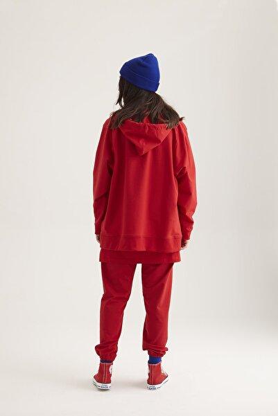 Kuaybe Gider Kadın Kırmızı Hoodie