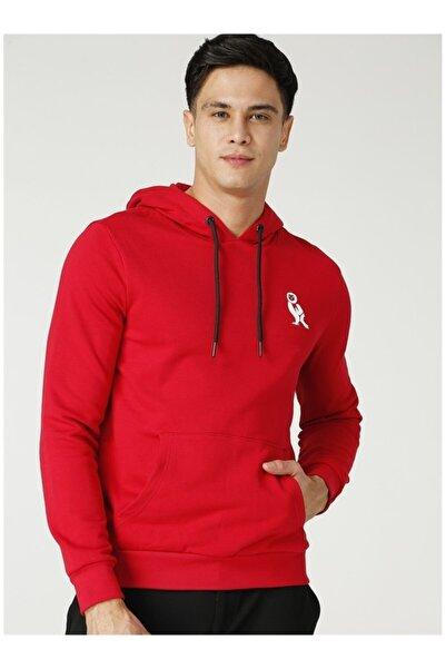 NATIONAL GEOGRAPHIC Unisex Kırmızı Kapüşonlu Sweatshirt