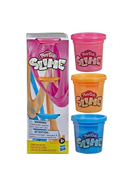 Play Doh Play-Doh Slime 3'lü Hamur - Mavi, Metalik Turuncu ve Metalik Pembe