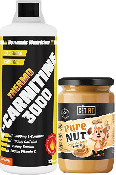 Dynamic Nutrition Dynamic Thermo L-carnitine 3000 Mg 1000 ml + Şekersiz Getfit Purenut Doğal Fıstık Ezmesi 600 gr