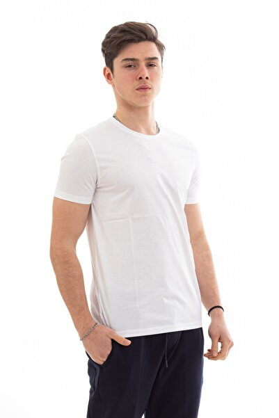 Hugo Boss Erkek Beyaz Tessler Slim Fit T-shirt