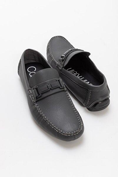 Calvin Klein Erkek Kwinten Deri Loafer Ayakkabı